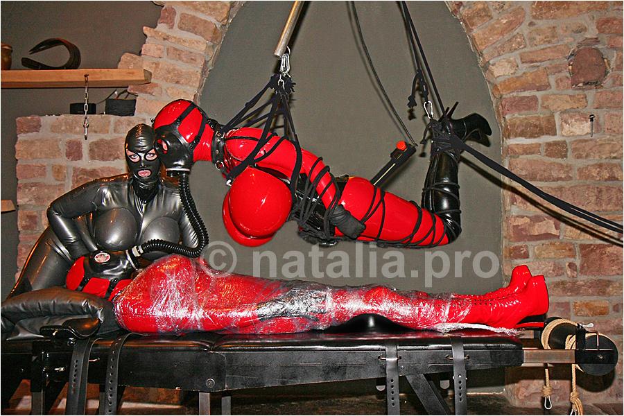 Bdsm heavy rubber rubber bondage